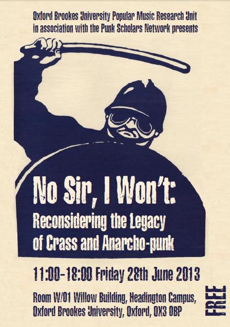 No Sir, I Won't  - 01  - Oxford Brookes -  28 June 2013