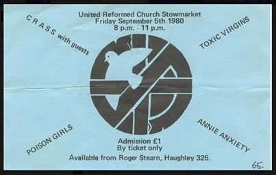 Crass, Poison Girls, Annie Anxiety at Stowmarket 05 September 1980