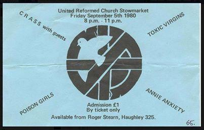 Crass, Poison Girls, Annie Anxiety at Stowmarket 05 September 1980