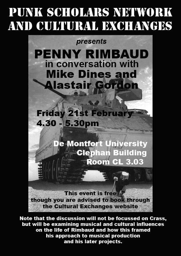 Punk Scholars Network - Cultural Exchanges - 21 February 2013 - Leicester