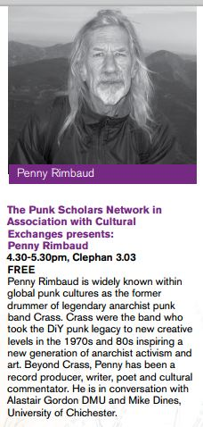 Penny Rimbaud, Leicester, 21 February 2014