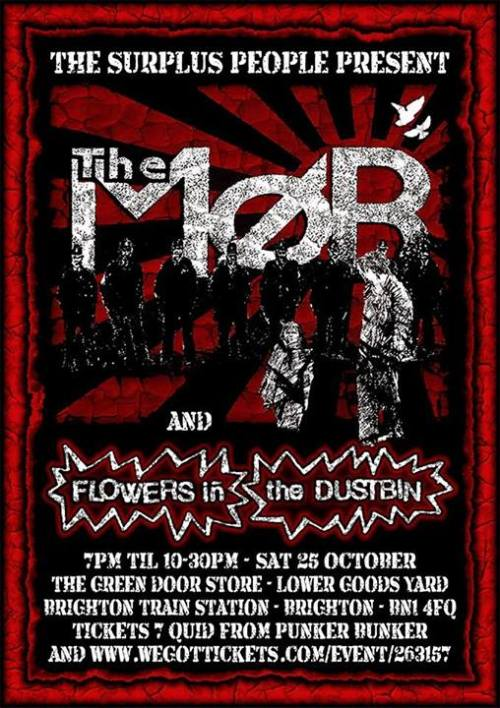 The Mob, Flowers in the Dustbin, Brighton 25 October 2014