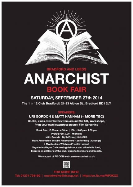 Leeds and Bradford Anarchist Bookfair 2014