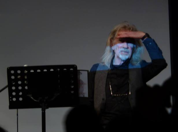 Penny Rimbaud performing at The Vortex