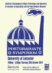 Punk Scholars' Network - Post-Graduate Symposium - 30 October 2014 - Programme - cover