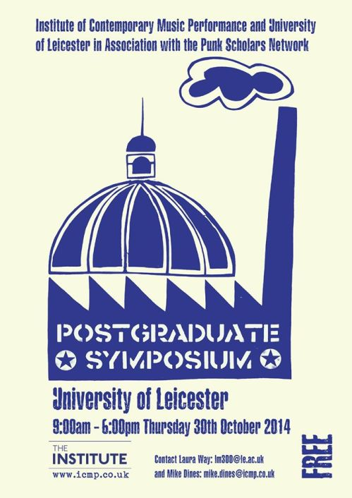 Punk Scholars' Network - Post-Graduate Symposium - 30 October 2014 - Programme - cover