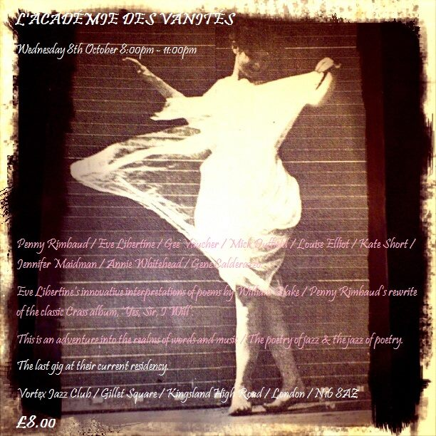 Rimbaud and Libertine - The Vortex - October 2014