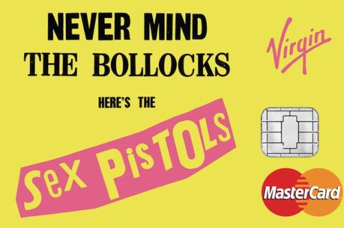 The Sex Pistols - Never Mind the Bollocks - credit card