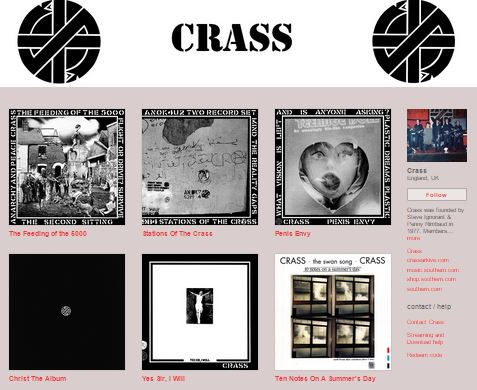 Southern - Crass - BandCamp - July 2015