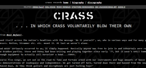 The Art of Crass - Southern Records - Crass web site
