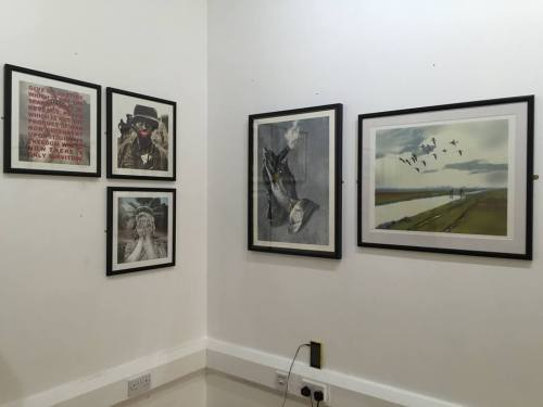 Setting up The Art of Crass exhibition - photo Sean Clark