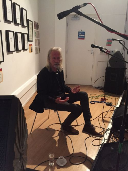 Penny Rimbaud in conversation at The Art of Crass exhibition