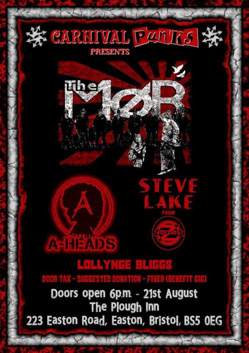 The Mob, Steve Lake (Zounds), A-Heads - Bristol, August 2016