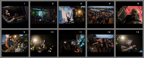 Thumbnails of pictures from the Trespass #2 event 2016