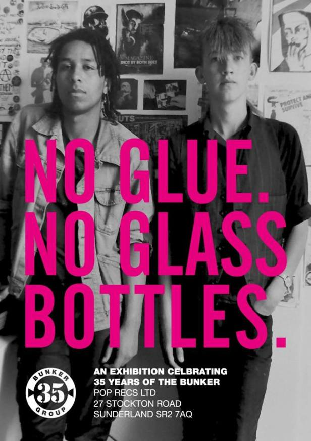No Glue. No Glass Bottles - poster for 2017 retrospective exhibtion