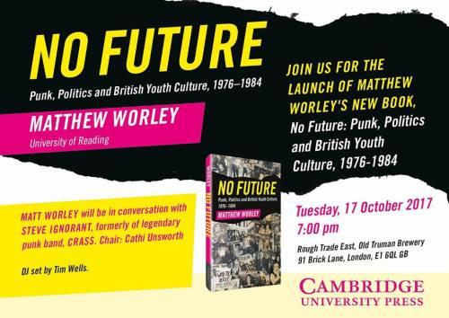 Matthew Worley - No Future - book launch