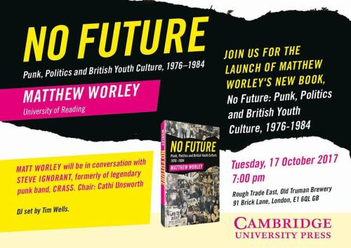 Matthew Worley - No Future - book launch