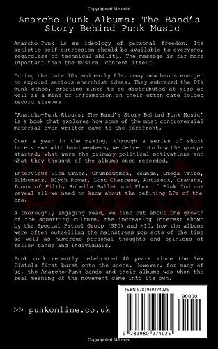 Anarcho punk albums - the bands' story behind anarchist punk music -back cover