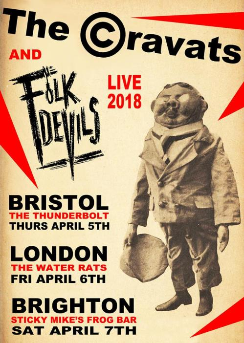 The Cravats - April 2018 - live dates