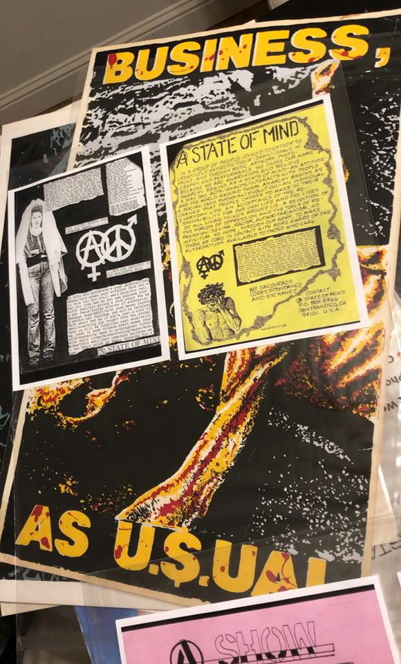 Silk screen posters and flyers - being prepared for the exhibition