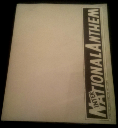 International Anthem - collection - Exitstencil Press - cover