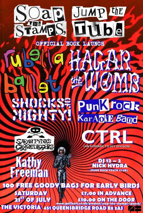 Soap the Stamps - book launch - gig poster
