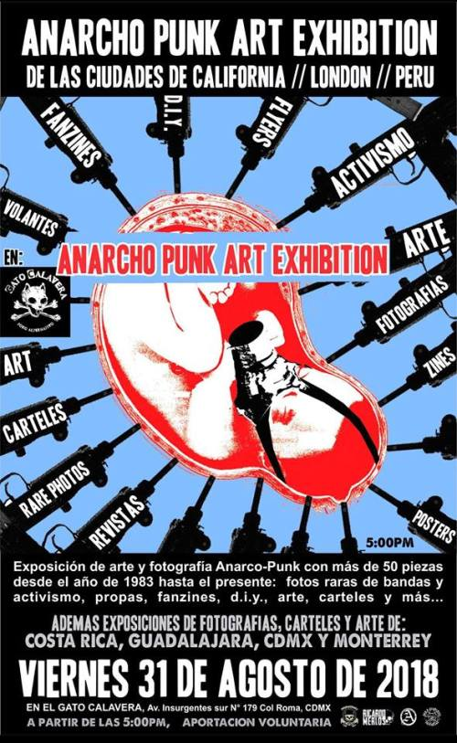 Anarcho-punk art exhibition - Mexico - August 2018