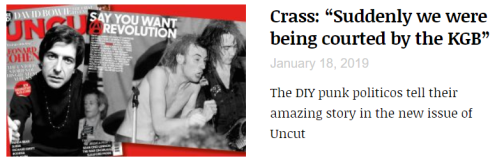 Crass - Uncut - March 2019