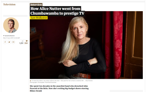 Alice Nutter - Guardian interview - 14 January 2019
