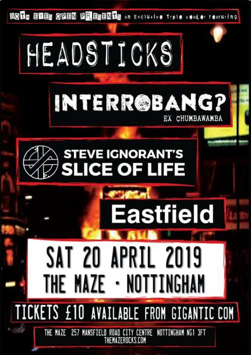 Headsticks - Interrobang? - Slice of Life - Eastfield - Nottingham - 20 April 2019