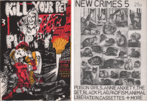 Fanzine covers - for Kill Your Pet Puppy and New Crimes