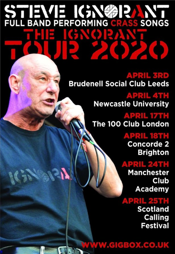 Poster for the Ignorant Tour 2020
