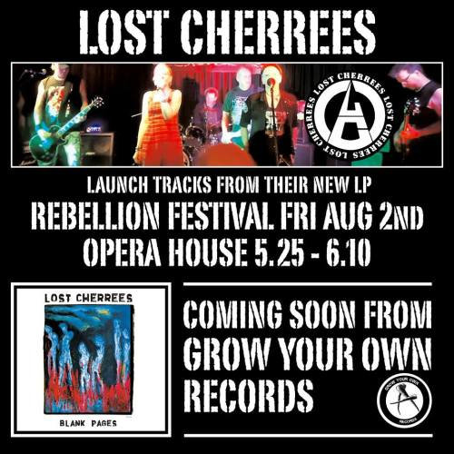 Lost Cherrees - Rebellion show and new album Blank Pages promotion