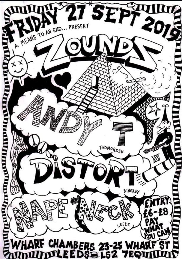 Zounds, Andy T, Distort, Nape Neck - 27 September 2019
