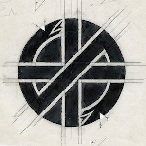 Dave King's design for what became the Crass symbol