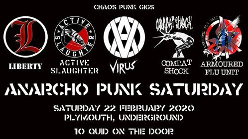 Anarcho-Punk Saturday, 22 February 2020