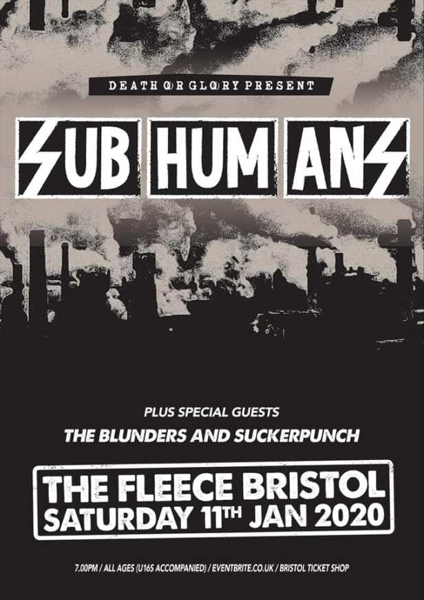 Subhumans - Bristol - 10 January 2020