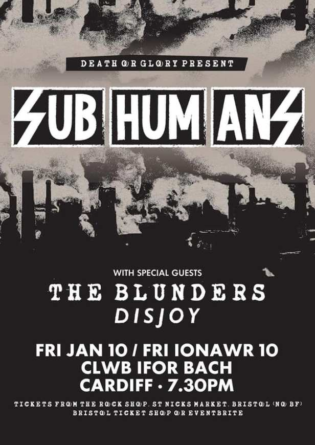 Subhumans - Cardiff - 10 January 2020