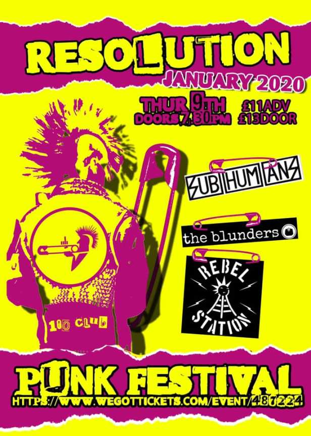 Subhumans - London - 9 January 2020