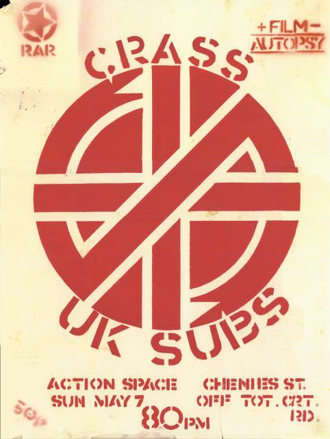 Crass - Action Space - gig poster