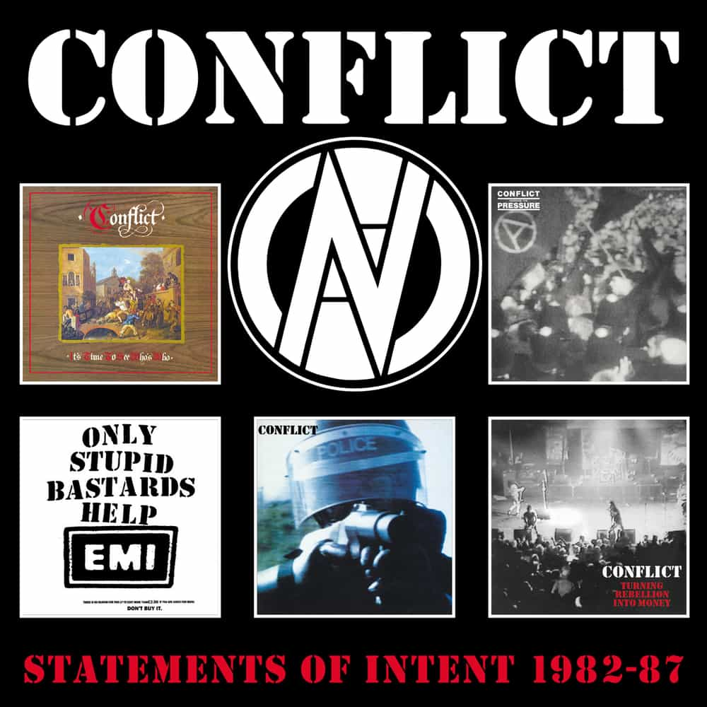 Conflict - Statements of Intent 1982-87 - CD box set front cover