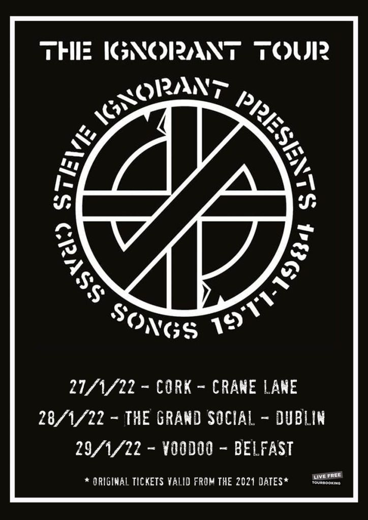 The Ignorant Tour - rescheduled Ireland tour dates - January 2022