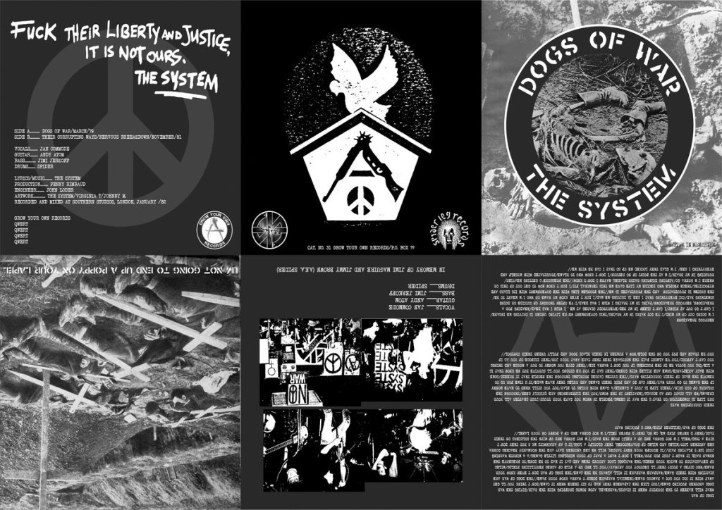 Dogs of War EP - The System - Grow Your Own Records - 2021 - foldout sleeve