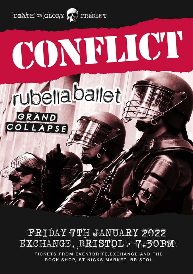 Poster for Conflict - Rubella Ballet - Grand Collapse - gig Bristol 7 January 2022