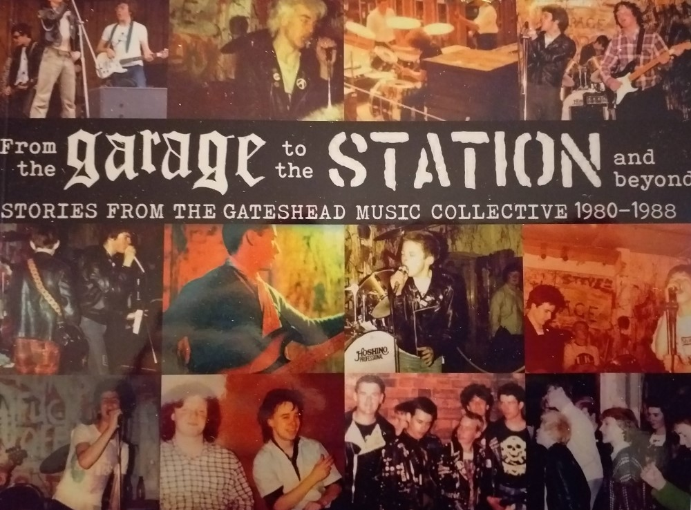Detail from the cover of 'From The Garage To The Station And Beyond' - Stories From The Gateshead Music Collective 1980-88
