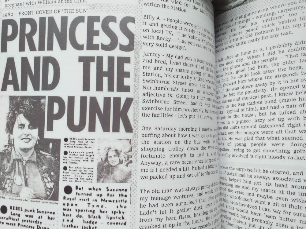 Third sample page from 'From The Garage To The Station And Beyond' - Stories From The Gateshead Music Collective 1980-88