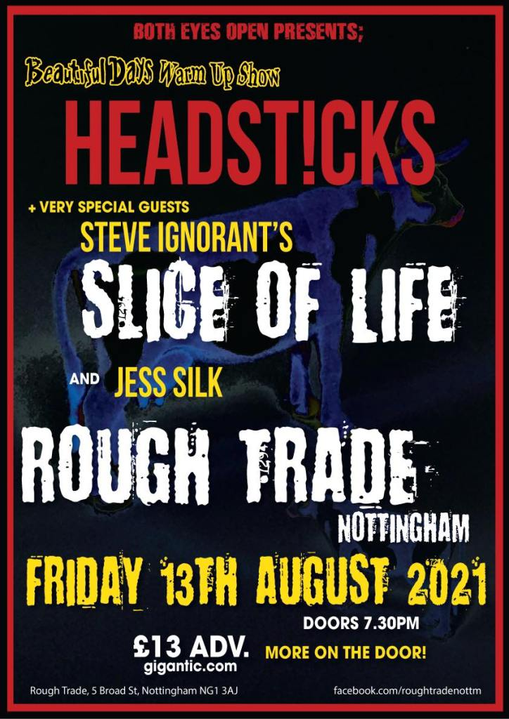 Headsticks, Slife of Life and Jess Silk play live at Rough Trade, Nottingham 13 August 2021